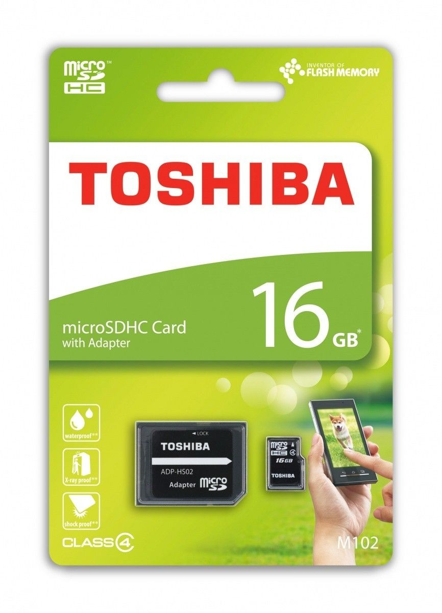 Toshiba microSDHC 16GB class 4 High Speed M102 adapter