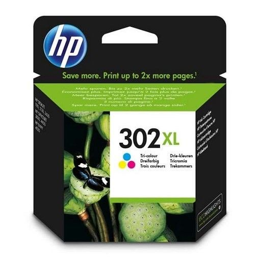 HP Tusz nr 302XL Tri-Colour F6U67AE