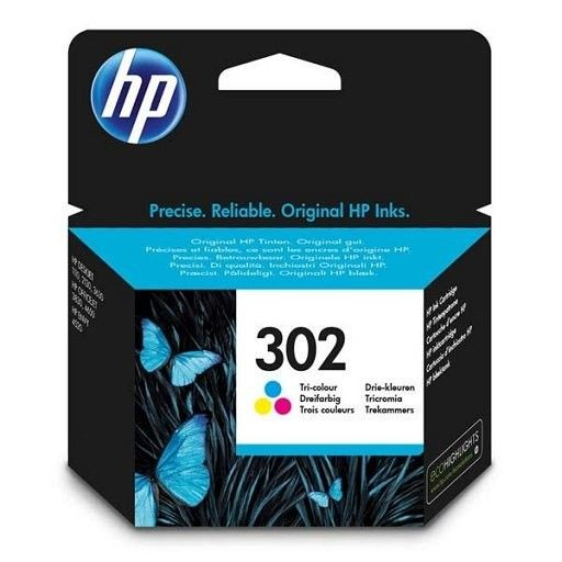 HP Tusz nr 302 Tri-Colour F6U65AE
