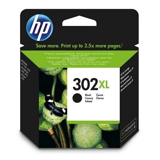 HP Tusz nr 302XL Black F6U68AE