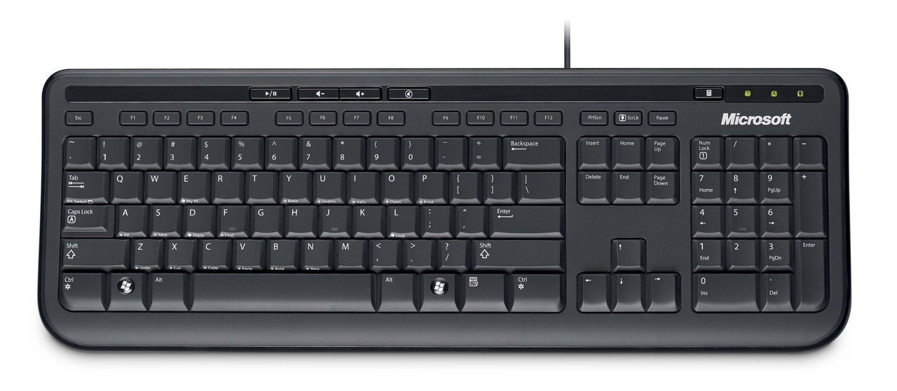 Microsoft Wired Keyboard 600 USB (black)