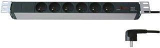 Fideltronik listwa zasilająca 6 gniazd (rack 19'', 1U, filtr przeciwzakłóceniowy)