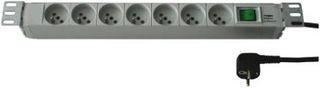 Fideltronik listwa zasilająca 7 gniazd (rack 19'', 1U, wyłącznik)