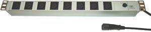 Fideltronik listwa zasilająca 8 gniazd (rack 19'', 1U, wtyczka IEC320 10A)