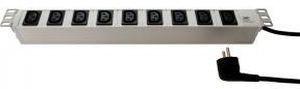 Fideltronik listwa zasilająca 9 gniazd (IEC320 10A, rack 19'', 1U, wtyk std)
