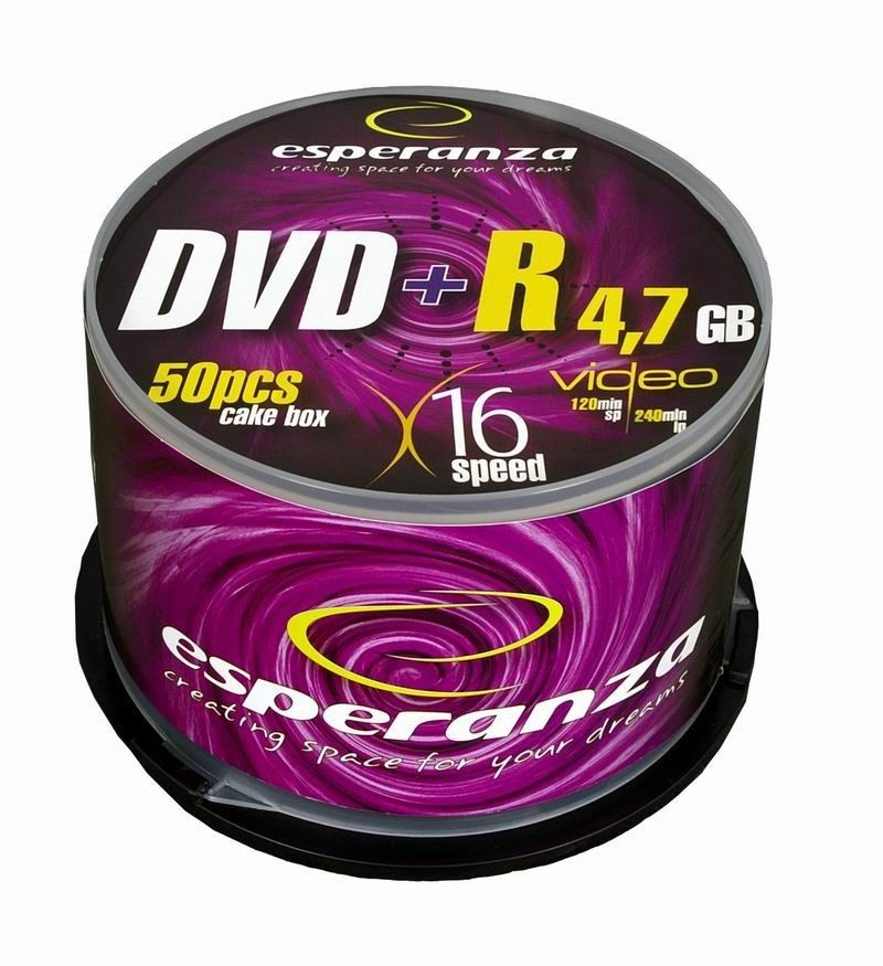 Esperanza DVD+R [ cake box 50 | 4.7GB | 16x ]
