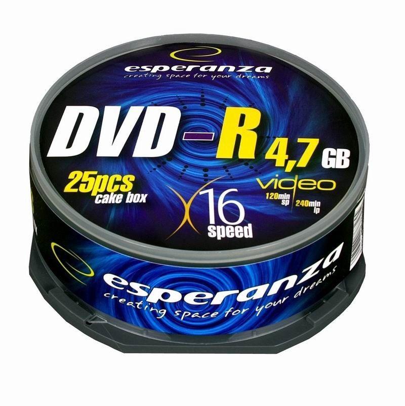 Esperanza DVD-R 4.7GB 16x (cake box, 25szt)