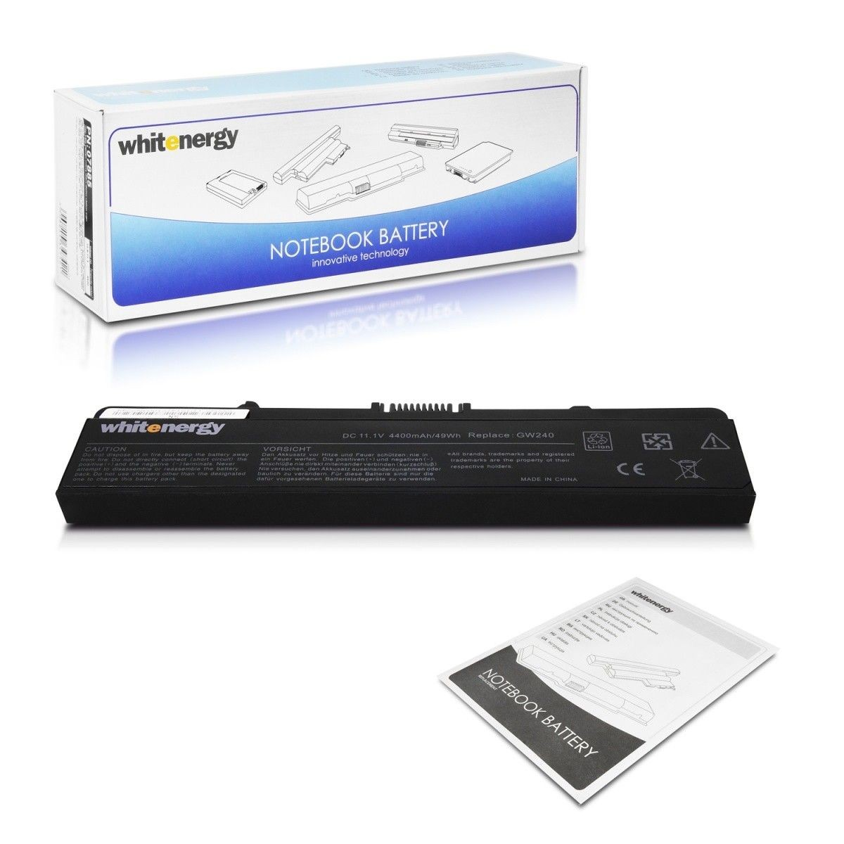 Whitenergy bateria do laptopa Dell Inspiron 1525 11.1V Li-Ion 4400mAh