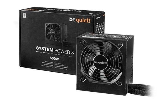 be quiet! Zasilacz SYSTEM POWER 8 - 500W, 80PLUS
