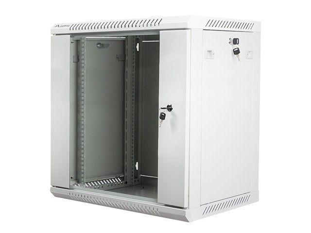Lanberg szafa instalacyjna wisząca 19'' 12U 600x450mm szara (drzwi szklane)