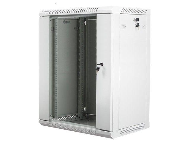 Lanberg szafa instalacyjna wisząca 19'' 15U 600x450mm szara (drzwi szklane)