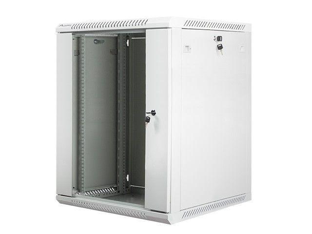 Lanberg szafa instalacyjna wisząca 19'' 15U 600x600mm szara (drzwi szklane)