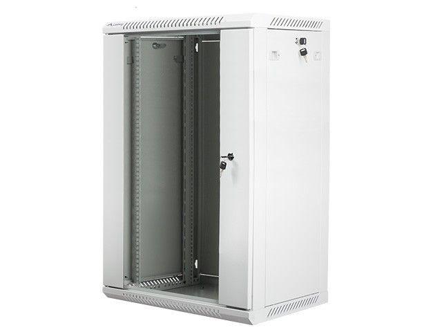 Lanberg szafa instalacyjna wisząca 19'' 18U 600x450mm szara (drzwi szklane)