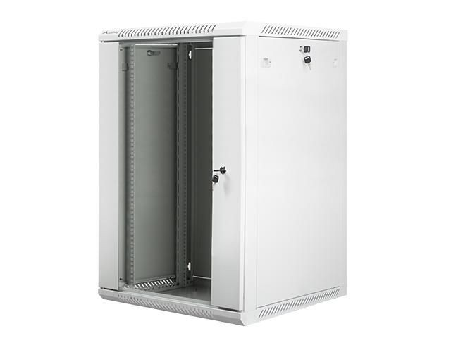 Lanberg szafa instalacyjna wisząca 19'' 18U 600x600mm szara (drzwi szklane)