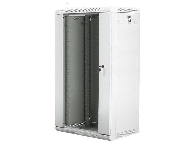 Lanberg szafa wisząca rack 19'' 22U 600x450mm szara (drzwi szklane)