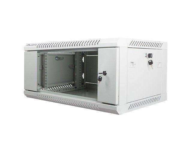 Lanberg szafa instalacyjna wisząca 19'' 4U 600x450mm szara (drzwi szklane)