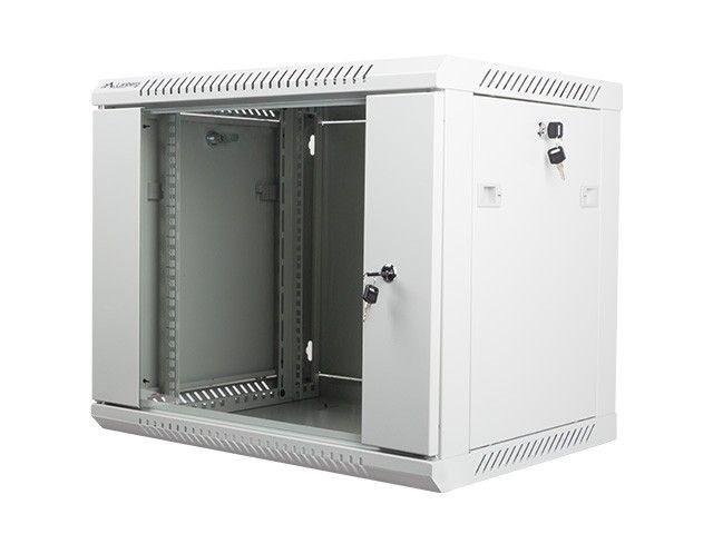 Lanberg szafa instalacyjna wisząca 19'' 9U 600x450mm szara (drzwi szklane)