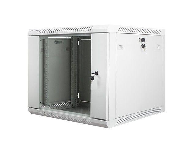 Lanberg szafa instalacyjna wisząca 19'' 9U 600x600mm szara (drzwi szklane)