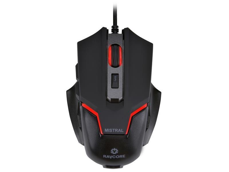 Ravcore Mysz przewodowa Mistral AVAGO 3050 optyczna Gaming czarna