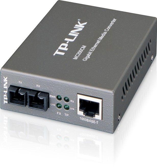 TP-Link MC200CM konwerter 1000BaseT (RJ45) - 1000BaseSX (SC) MultiMode 550m