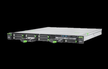 Fujitsu RX1330 M2 LFF redundant (rack 1U)/1x Intel Xeon E3-1220v5/1x 8 GB DDR4 2133 ub d ECC, max 64GB/0,1,10 SATA, inne opcja/2x 2000GB SATA 6G 72RPM Business Critical HotPlug/ Max 4 szt LFF 3,5 SAS/SATA HotPlug Dla dysków SAS wymagany dodatkowy kontrole