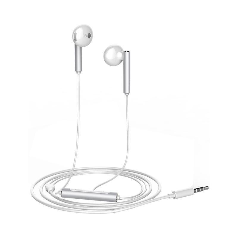 Huawei AM116 Białe słuchawki przewodowe 3.5 mm
