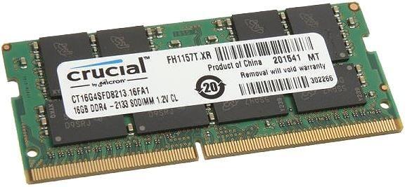 Crucial pamięć DDR4, 16GB, 2133MHz, CL15, DRx8, SODIMM, 260pin
