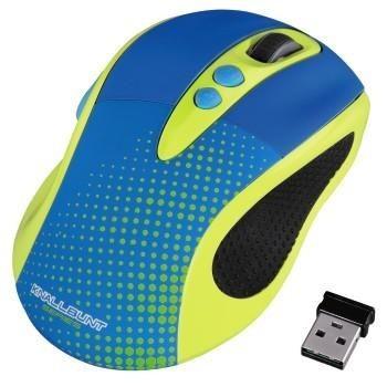 Hama Mysz bezprzewodowa HAMA KNALLBUNT 2.0 optyczna niebiesko-żółta