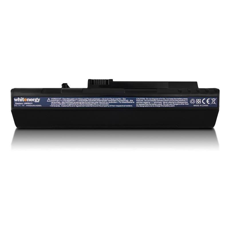 Whitenergy bateria do Acer Aspire One A150 (11.1V, Li-Ion, 4400mAh, czarna)
