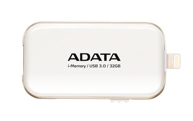 A-Data Adata i-Memory Flash Drive UE710 32GB, iOS support, USB3.0, white