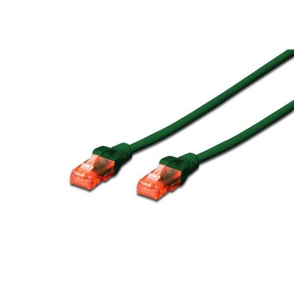 Digitus Kabel patch cord UTP, CAT.6, zielony, 0,5m, 15 LGW