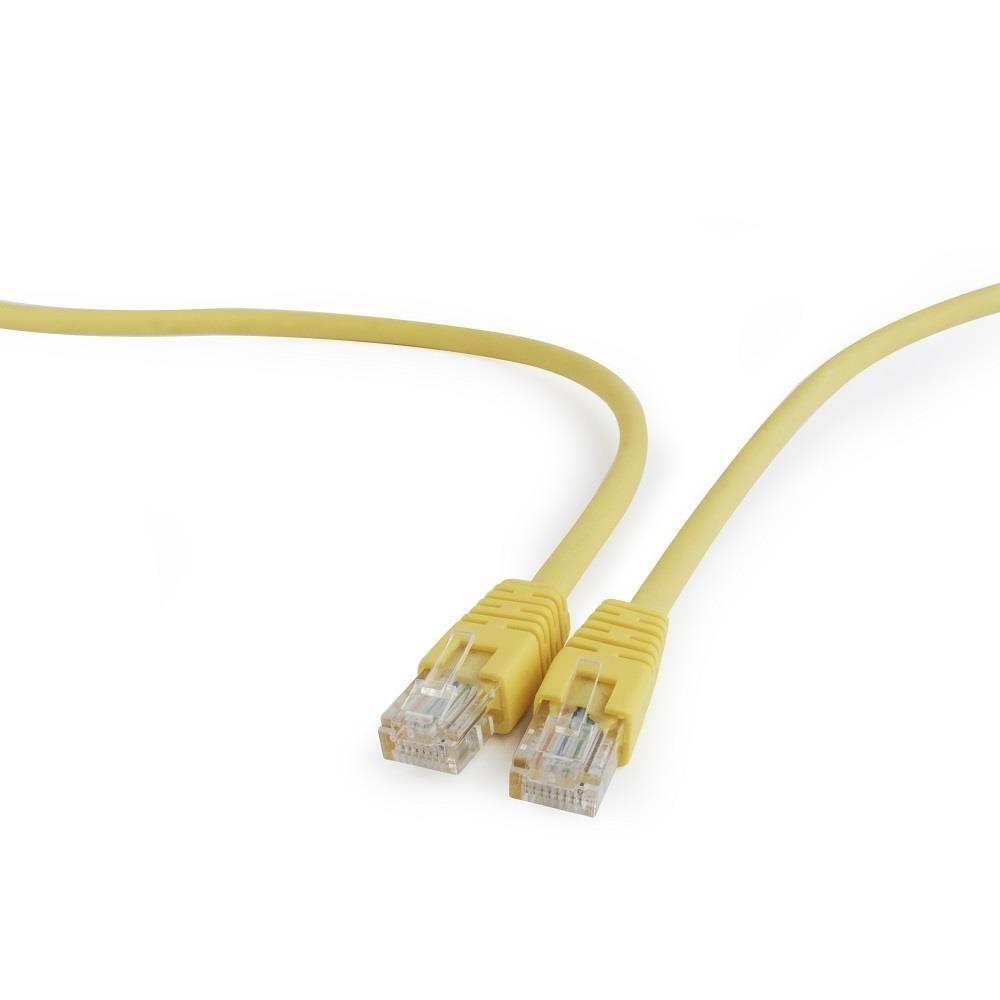 Gembird patch cord RJ45 (osłonka zalewana, kat. 5e, UTP, 2m, żółty)