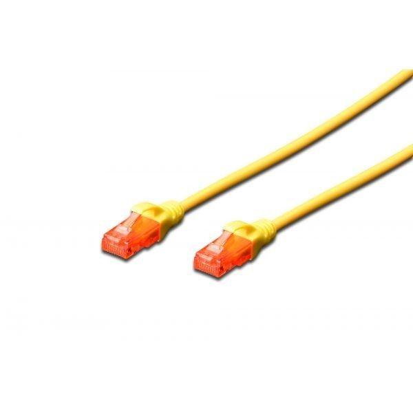 Digitus Kabel patch cord UTP, CAT.6, żółty, 1,0m, 15 LGW