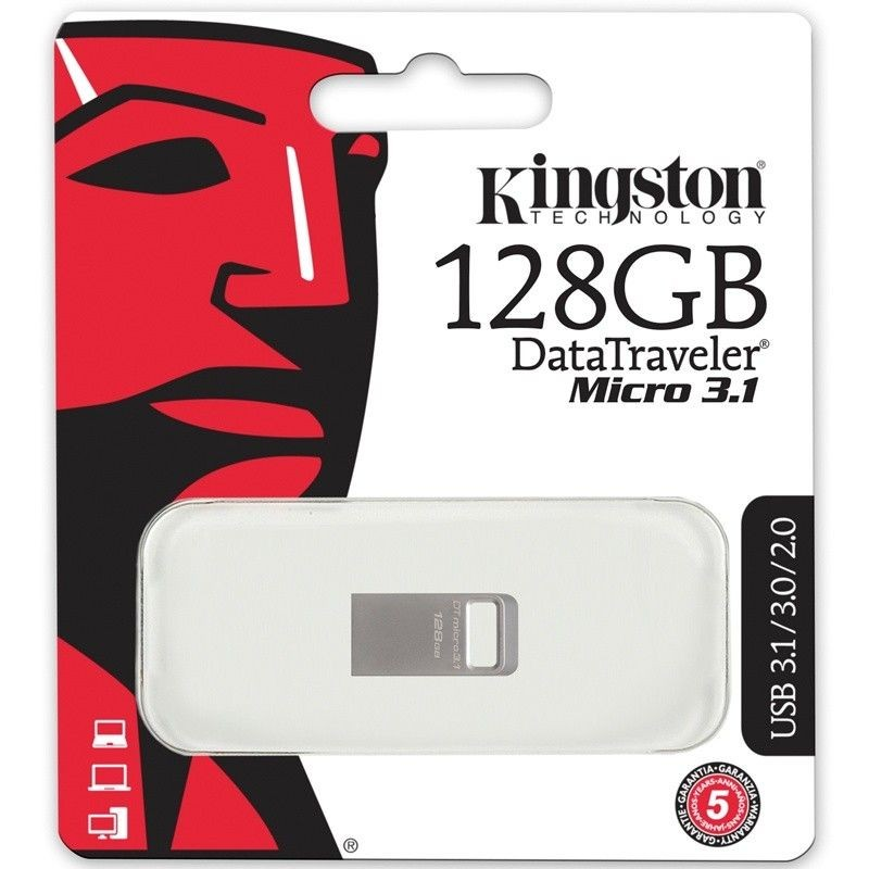 Kingston Pendrive (Pamięć USB) 128 GB Srebrny