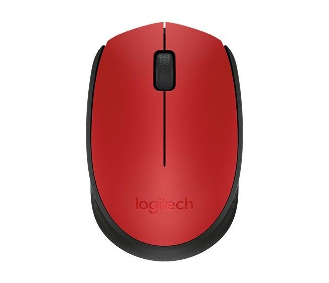 Logitech Wireless Mouse M171, Czerwona