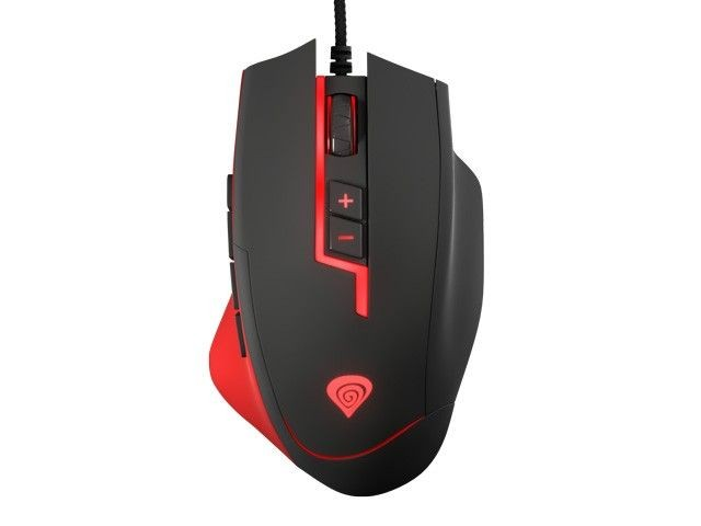 NATEC mysz laserowa GENESIS MMO GX85 GAMING 8200 DPI, AVAGO 9800, USB, black-red