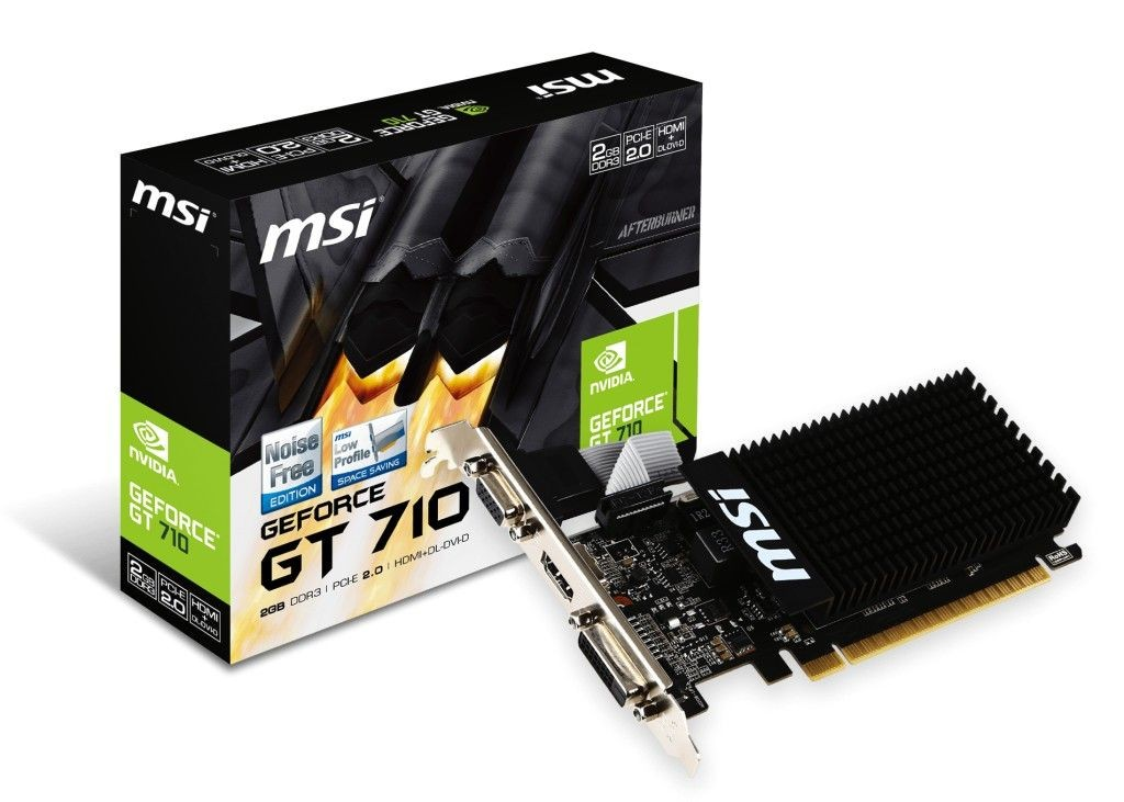 MSI GeForce GT 710 2GB DDR3 64BIT DVI/D-SUB/HDMI