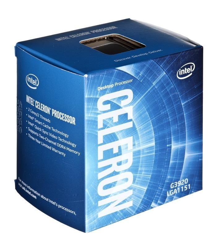 Intel Celeron G3920, Dual Core, 2.90GHz, 2MB, LGA1151, 14nm, 47W, VGA, BOX
