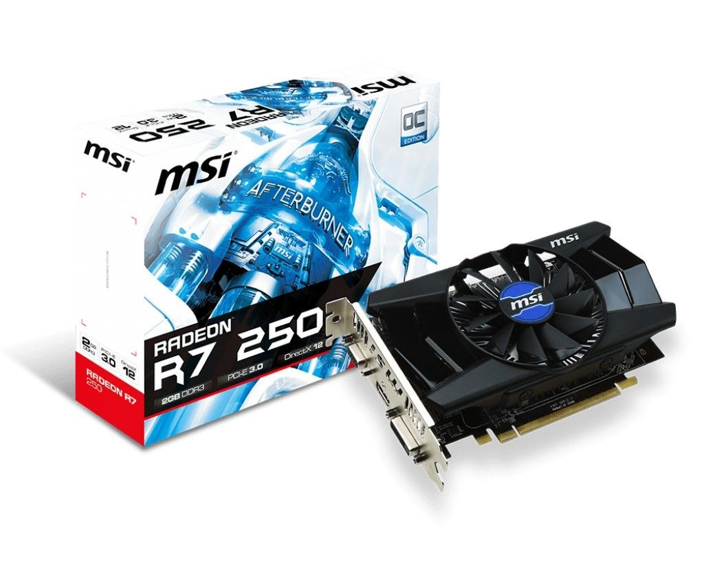 MSI Radeon R7 250 OC V1, 2GB DDR3 (128 Bit), HDMI, DVI, D-Sub