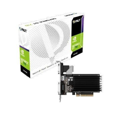 Palit GeForce GT 710 1GB DDR3 64Bit DVI/HDMI/CRT BOX