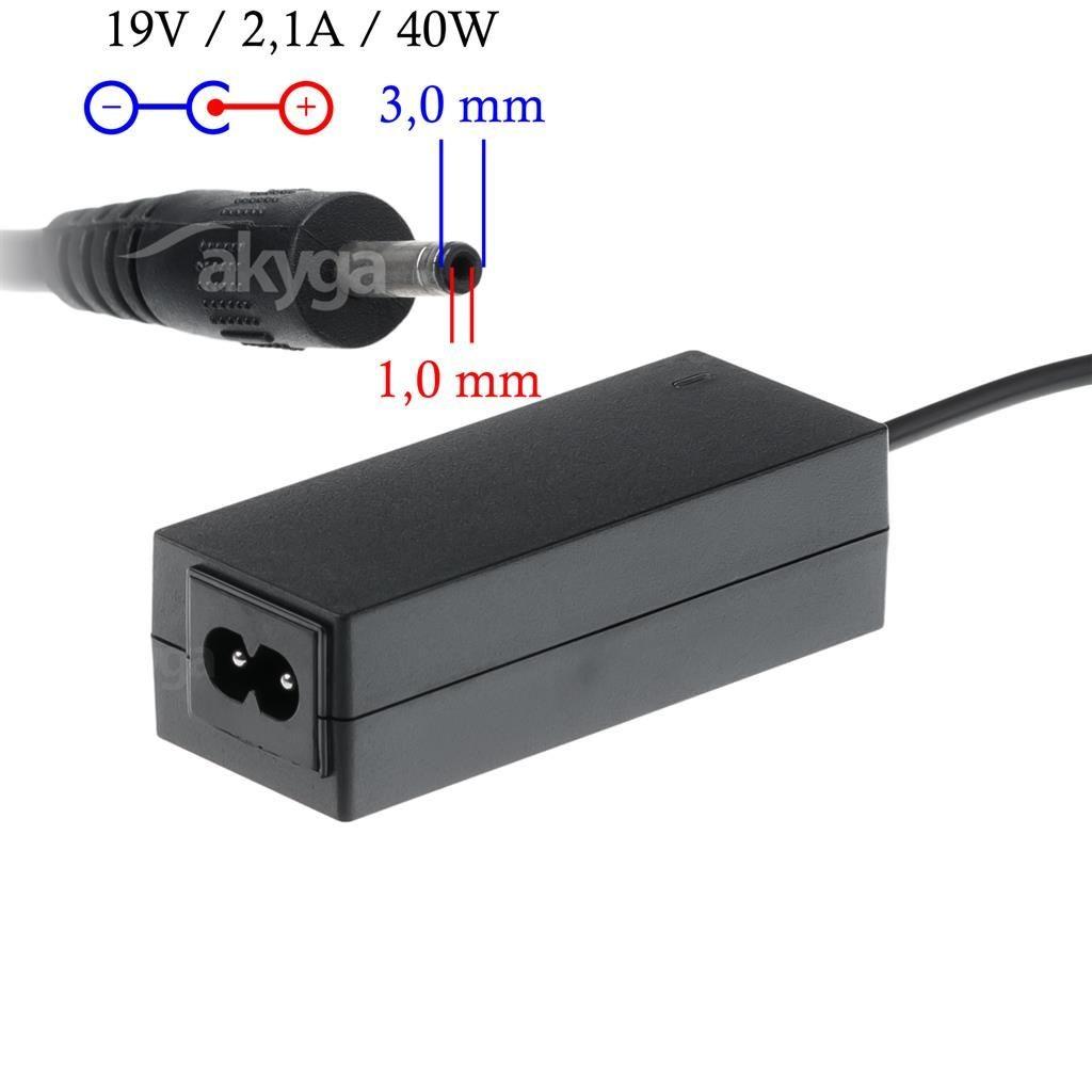 Akyga zasilacz do laptopa AK-ND-22 19V/2.1A 40W 3.0x1.0 mm SAMSUNG