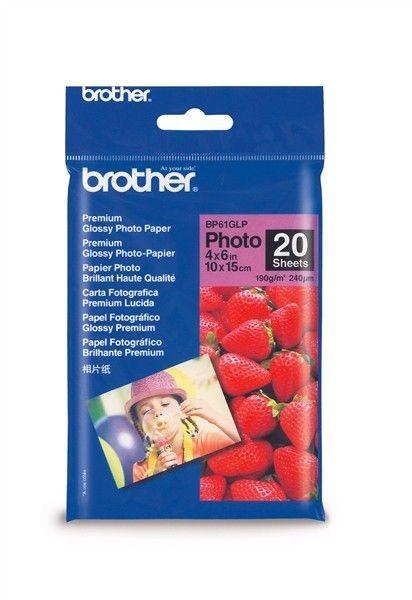 Brother Papier fotograficzny BP61GLP | 20ark | błyszczący 6'' x 4''