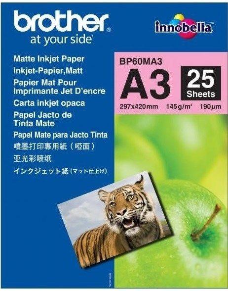 Brother Papier fotograficzny BP60MA3 | 25ark | matowy A3