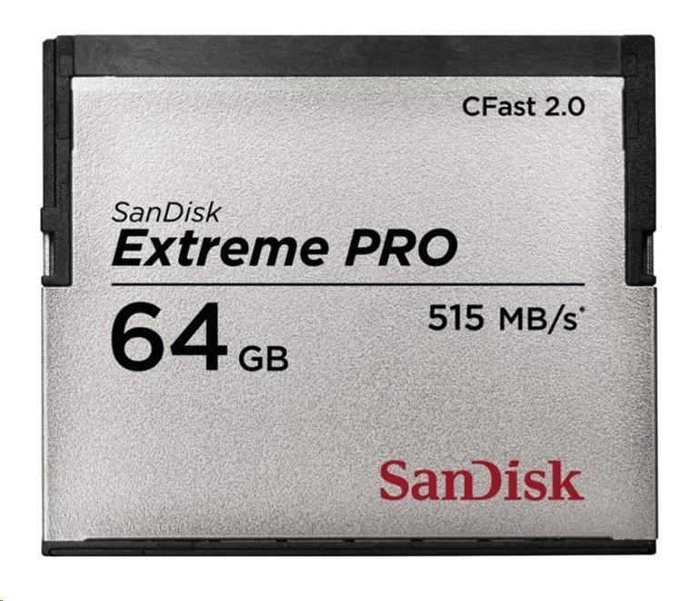 SanDisk karta EXTREME PRO CFAST 2.0, 64GB (515 MB/s)
