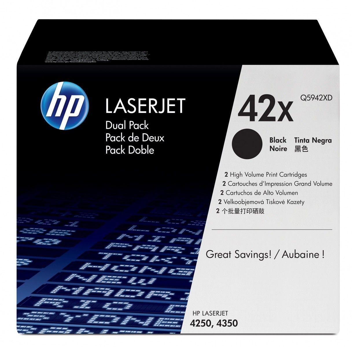 HP Toner HP black dual pack | 2x20000str | LJ4250/4350