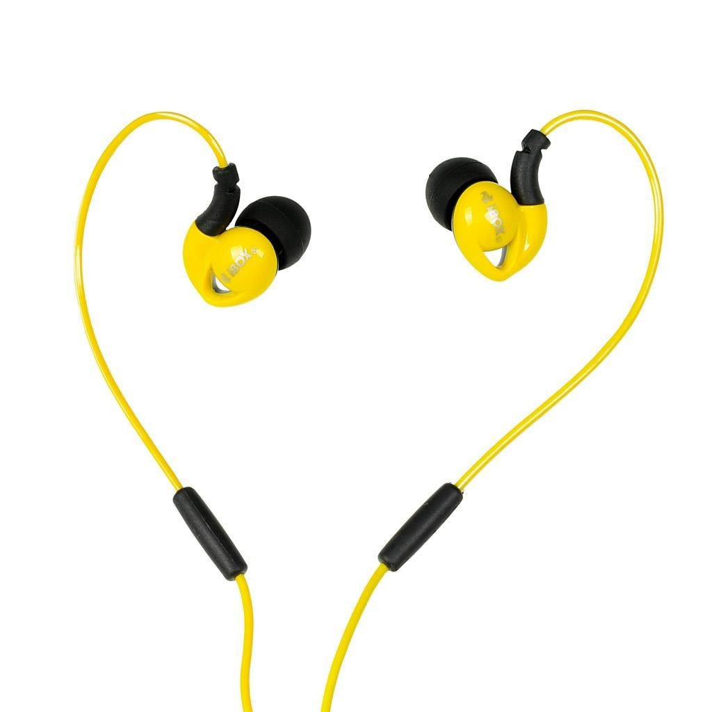 I-BOX SŁUCHAWKI I-BOX S1 SPORT AUDIO MOBILE YELLOW/BLACK