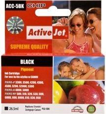ActiveJet ACC-5BN tusz czarny do drukarki Canon (zamiennik Canon PGI-5BK ) Supreme
