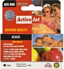 ActiveJet Tusz ActiveJet ACC-8BK | Black | 14 ml | Chip | Canon CLI-8BK