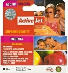 ActiveJet Tusz ActiveJet ACC-8M | Magenta | 14 ml | Chip | Canon CLI-8M