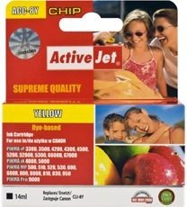 ActiveJet Tusz ActiveJet ACC-8YN | Yellow | 14 ml | Chip | Canon CLI-8Y
